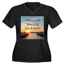 40TH PRAYER Women's Plus Size V-Neck Dark T-Shirt