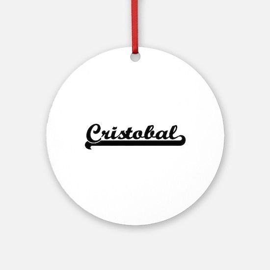 Cristobal Classic Retro Name Desi Ornament (Round)