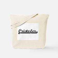 Cristofer Classic Retro Name Design Tote Bag