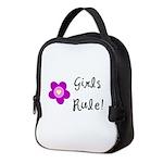 Girls Rule Neoprene Lunch Bag