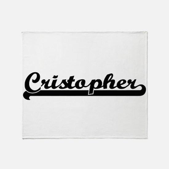 Cristopher Classic Retro Name Design Throw Blanket