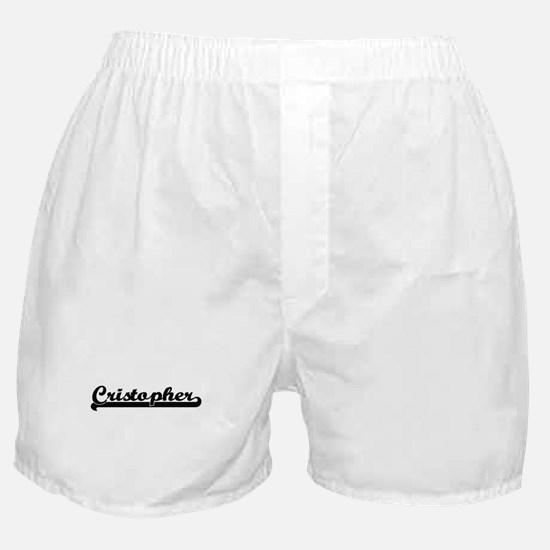 Cristopher Classic Retro Name Design Boxer Shorts