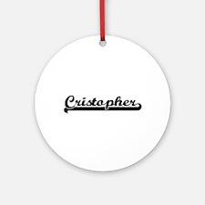 Cristopher Classic Retro Name Des Ornament (Round)