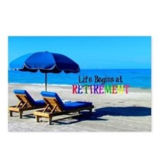 Life Begins at Retirement Postcards (Package of 8)