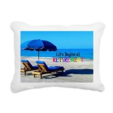 Life Begins at Retiremen Rectangular Canvas Pillow
