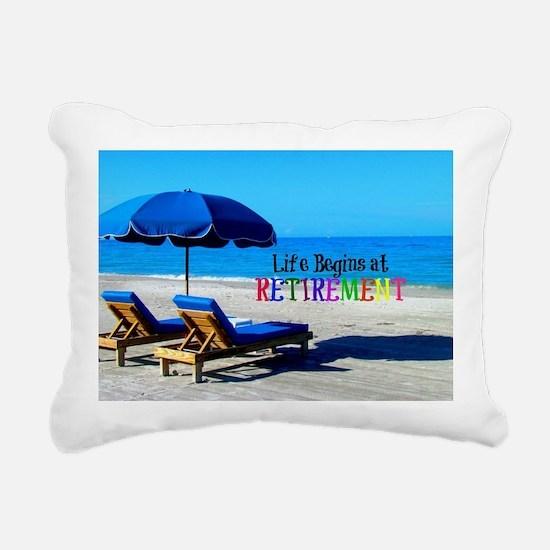 Life Begins at Retiremen Rectangular Canvas Pillow