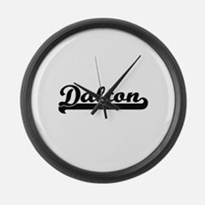 Dalton Classic Retro Name Design Large Wall Clock