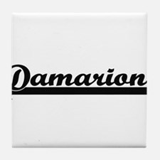 Damarion Classic Retro Name Design Tile Coaster