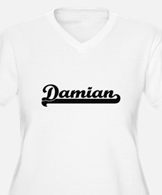 Damian Classic Retro Name Design Plus Size T-Shirt
