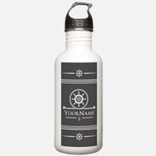 Nautical Gray Anchor R Water Bottle