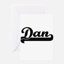 Dan Classic Retro Name Design Greeting Cards