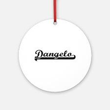 Dangelo Classic Retro Name Design Ornament (Round)
