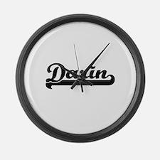 Darin Classic Retro Name Design Large Wall Clock