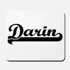 Darin Classic Retro Name Design Mousepad