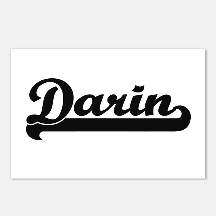 Darin Classic Retro Name Postcards (Package of 8)