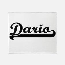 Dario Classic Retro Name Design Throw Blanket