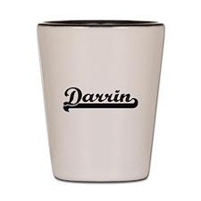 Darrin Classic Retro Name Design Shot Glass