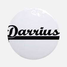 Darrius Classic Retro Name Design Ornament (Round)