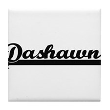 Dashawn Classic Retro Name Design Tile Coaster