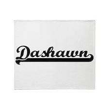 Dashawn Classic Retro Name Design Throw Blanket