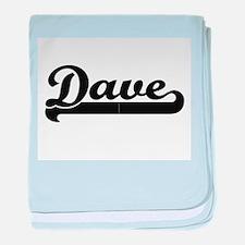 Dave Classic Retro Name Design baby blanket