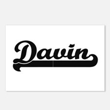 Davin Classic Retro Name Postcards (Package of 8)