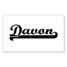 Davon Classic Retro Name Design Decal
