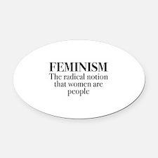 Feminism Oval Car Magnet