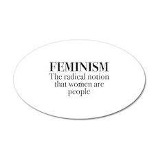 Feminism 22x14 Oval Wall Peel