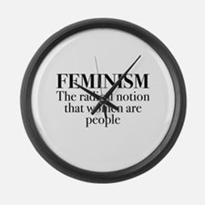Feminism Large Wall Clock