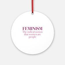 Feminism Ornament (Round)