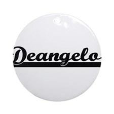 Deangelo Classic Retro Name Desig Ornament (Round)
