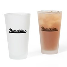Demetrius Classic Retro Name Design Drinking Glass
