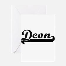 Deon Classic Retro Name Design Greeting Cards