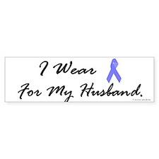 I Wear Light Blue For My Husb Bumper Bumper Sticker