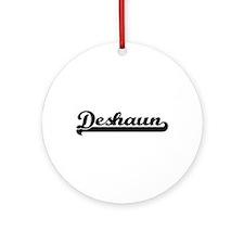 Deshaun Classic Retro Name Design Ornament (Round)