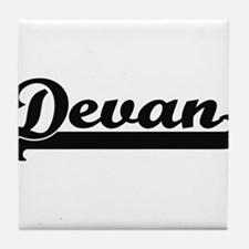 Devan Classic Retro Name Design Tile Coaster
