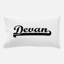 Devan Classic Retro Name Design Pillow Case