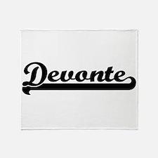 Devonte Classic Retro Name Design Throw Blanket