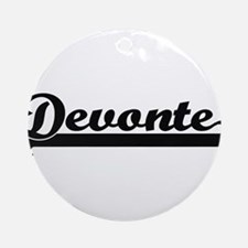 Devonte Classic Retro Name Design Ornament (Round)