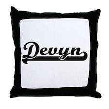 Devyn Classic Retro Name Design Throw Pillow