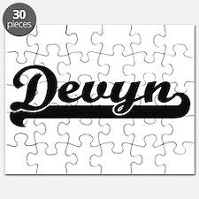 Devyn Classic Retro Name Design Puzzle