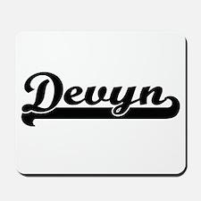 Devyn Classic Retro Name Design Mousepad