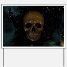 Space Skull Yard Sign