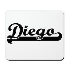 Diego Classic Retro Name Design Mousepad