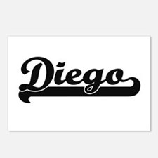 Diego Classic Retro Name Postcards (Package of 8)