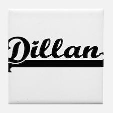Dillan Classic Retro Name Design Tile Coaster