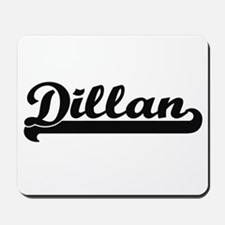 Dillan Classic Retro Name Design Mousepad