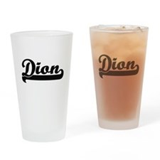 Dion Classic Retro Name Design Drinking Glass