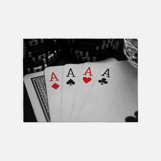 4 Aces 5'x7'Area Rug